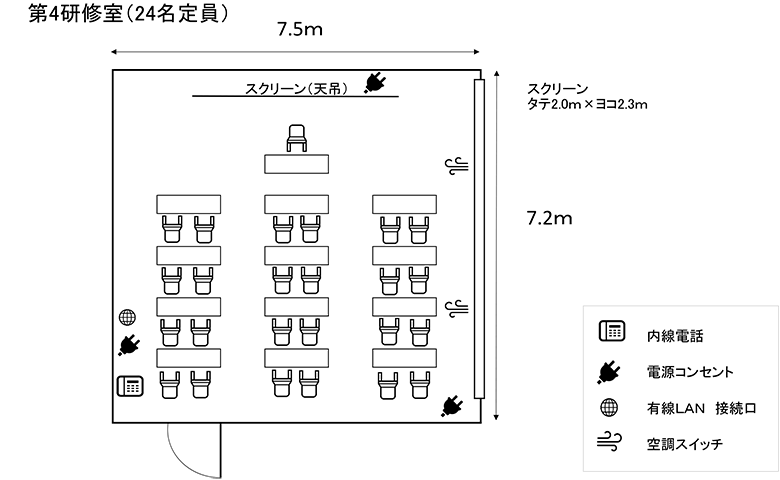第4研修室図