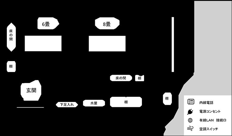 和室研修室図